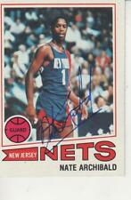 "NATE ""TINY"" ARCHIBALD SIGNED 1977-78 TOPPS #127 - NEW YORK NETS"