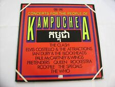 CONCERTS FOR THE PEOPLE OF KAMPUCHEA - 2LP VINYL 1981 - QUEEN - CLASH - WHO
