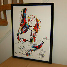 Jimmy Page, Led Zeppelin, The Yardbirds, Guitar Player, Guitarist, POSTER w/COA