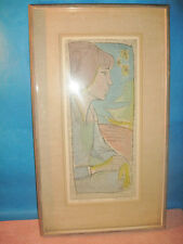 IRVING AMEN ETCHING/WOODCUT CLAUDIA 1/1 SIGNED IN PENCIL 1963