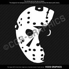"6"" JASON VOORHEES Decal Mask Friday 13th halloween sticker window horror"