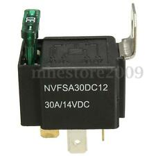 30A 12V CAR BOAT 4 PIN FUSE RELAY ON/OFF Fused Switch Spotlamps Box Metal Holder