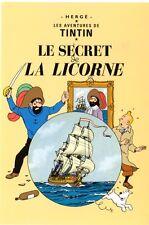 TINTIN LE SECRET DE LA LICORNE  CARTE POSTALE HERGE/ MOULINSART 1996