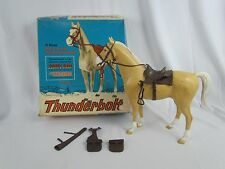 Vtg Original JOHNNY WEST THUNDERBOLT PALOMINO Horse by Marx w Box 1960s Complete