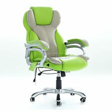 FoxHunter Luxury 6 Point Massage Office Computer Chair Reclining MC8074 Green