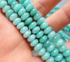 5x8mm Brazilian Aquamarine Gemstone Abacus Loose Bead 15''