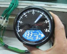 12000RPM LCD Digital Odometer Speedometer Tachometer For Motorcycle Scooter New