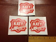 Railroad Decals (3) -MISSOURI KANSAS & TEXAS (MKT)(KATY) -free shipping from USA