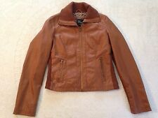 Women's Lane Crawford Faux Leather Polyurethane Coat Jacket ( Large) nc8
