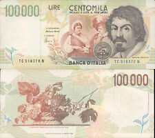 100.000 LIRE CARAVAGGIO 2° TIPO 18/12/1995, SPLENDIDO