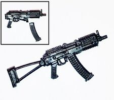 """Basic"" AKs74u Assault Rifle w/ Mag-1:18 Scale Weapon for 3-3/4"" Action Figures"