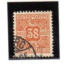 Dinamarca Valor para Periodicos año 1907 (BB-278)