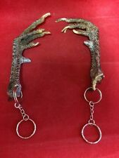 1 Taxidermy Rooster/Chicken w/spur Foot Key Chain/keychain-talisman-voodoo-witch