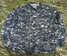 GENUINE US NAVY USN BLUE DIGITAL MARPAT CAMOUFLAGE JACKET/SHIRT. LARGE-REGULAR.