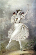 Oil painting young angel girl dancing Ballet in landscape free postage for all