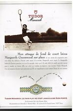 Publicité Advertising 1993 La Montre Tudor Monarch avec Margareth Greewood