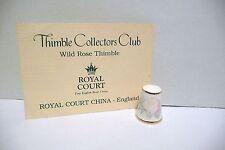 "THIMBLE FB CHINA ROYAL COURT ENGLAND ""WILD ROSE""  TCC 4/87 W/COA BEAUTY"