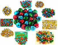 Jingle Bells 15mm and 10mm in Gold Silver and Assorted Colours