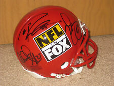 2013-14' RICHARD SHERMAN RUSSELL WILSON AUTOGRAPHED NFL ON FOX SEAHAWKS HELMET