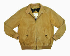 Orvis Suede Leather Harrington Jacket Med Beige Tan Baracuta Bomber G9 Mod Skin