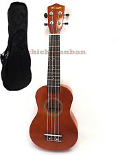 """Promotion  Woodnote/Brown with Red 21"""" Wooden Soprano Ukulele+Free Carrying Bag"""