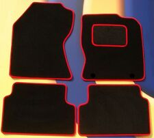 FORD FOCUS 04 - 11 & ST2 & ST3 CAR MATS BLACK CARPET WITH RED EDGE + CLIPS