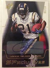 Ladainian Tomlinson 2006 UD SPx SPxclusives Auto #'d 3/10 - SAN DIEGO CHARGERS