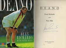 SIGNED DEAN RICHARDS DEANO FIRST EDITION 2ND IMPRESSION HARDBACK U/C DJ 1995