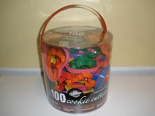 Wilton 100 Cookie Cutters Set Holiday Alphabet Numbers Animals Sports 2004
