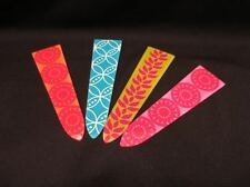 "NWT 7.5"" Silvestri Glass Plant Stakes Garden Yard Art Bright Pattern x 4 Stakes"