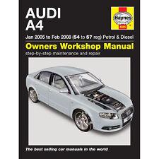 [ 4885 ] AUDI A4 1.8 2.0 essence 1.9 2.0 Turbo Diesel 05-08 (54-57 reg) Haynes Manu