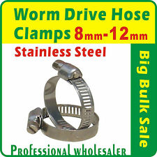 20 x Worm Drive Hose Clamps 8mm to 12mm Stainless Steel Clips Fastener