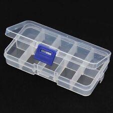 10 Fente Compartiment Bijoux Tool Box Case Perles Nail Conteneur de stockage