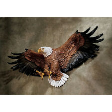 "31"" Wingspan Flying Freedom's American Spirit Hand Painted Eagle Wall Sculpture"