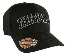 Harley-Davidson Firefighter 3D Black Baseball Cap, Velcro Closure BC126830