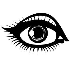 EYE AND LASHES CAR DECAL STICKER