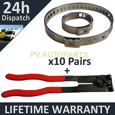 CV BOOT CLAMPS PAIR x10 EAR PLIERS x1 GARAGE TRADE PACK FITS ALL CARS KIT 3.10