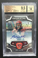 #1/1 Andy Dalton BGS 9.5 GEM 2011 Topps Chrome Superlative Refractor Auto RC