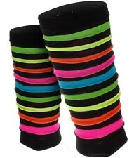 Rainbow Neon Stripes Leg Warmers / Dancewear