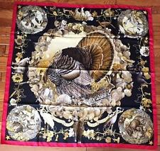 HERMES 100% Silk Scarf  Faune et Flore - Wildlife of Texas by Kermit Oliver