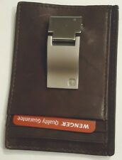 Swiss Army Exterior Genuine Leather Money Clip Wallet