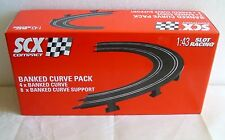 NEW SCX COMPACT 1:43 SCALE BANKED CURVE PACK SET OF 4 TRACKS #31400
