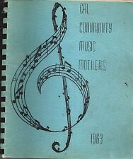 *LATIMER IA 1963 CAL COMMUNITY MUSIC MOTHERS *SCHOOL COOK BOOK *LOCAL ADS *IOWA