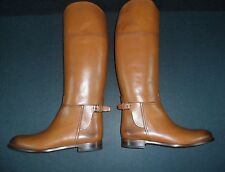 RALPH LAUREN COLLECTION SALLEN TAN CALF RIDING BOOTS SIZE US 7B EUR 37.5B ITALY