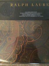 RALPH LAUREN HOME FRAZIER QUEEN DUVET COVER BROWN OLIVE NAVY PAISLEY $355