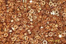 "LOT OF 100  1/4-20 1/4"" Copper Hex Nuts SILICON BRONZE 651"