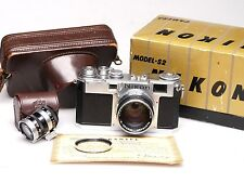 Nippon Kogaku Nikon s2 + Nikkor SC 5cm (50mm) 1:1 .4 + FINDER + BOX + CASE