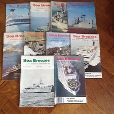 10, SEA BREEZES MAGAZINES,THE MAGAZINE OF SHIPS AND THE SEA