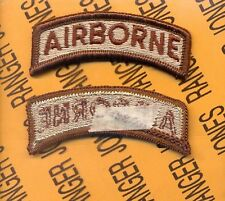 US ARMY AIRBORNE Desert DCU Reversed TAB patch m/e