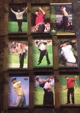 LOT OF 18 UPPER DECK 2001 TIGER WOODS GOLF TRADING CARDS